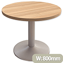 Adroit Virtuoso Meeting Table Small H735xDia900mm Cherry Marbella
