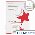 5 Star Address Labels 199.6 x 289.1mm (100 Labels)