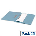 Office Transfer Spring File with Pocket 315gsm 38mm Foolscap Blue Pack 25