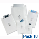 Jiffy Airkraft No.5 White Bubble-lined Postal Bags (Pack of 10)
