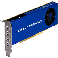 AMD Radeon Pro WX 4100 - Graphics card - Radeon Pro WX 4100 - 4 GB GDDR5 - PCIe 3.0 x16 low profile - 4 x Mini DisplayPort - for Workstation Z240, Z8 G4