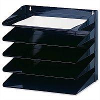 Avery 5-Tier Steel Letter Rack Black