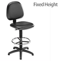 Trexus HR Medium Back Fixed Chair Vinyl Black
