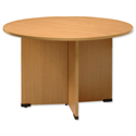 Sonix Meeting Table Circular with Silver Legs H720xDia1200mm Beech 29
