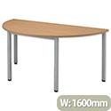 Sonix Table Semicircular 25mm Top W1600xD800xH720mm Oak 26