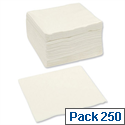 Paper Napkins Square 2-ply 400x400mm White Pack 250