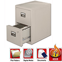 Fire Proof Filing Cabinet 2 Drawer 90.3kg Height711mm Sentry