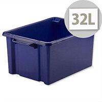 Strata Storemaster Maxi Crate Blue 32 Litres