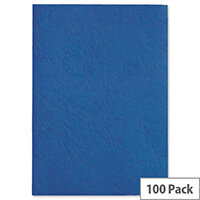 GBC Antelope Binding Covers Leather-look Plain A4 Royal Blue Pack 100