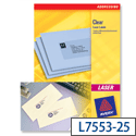 Avery L7553-25 Clear Address Labels Laser 48 per Sheet 22 x 12.7mm
