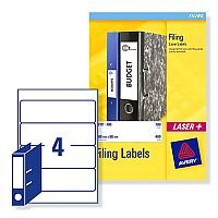 Avery Lever Arch Filing Labels Laser L7171-100 200x60mm 400 Labels