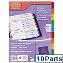 Avery 1-10 Ready Index Dividers Coloured Tabs 01735501