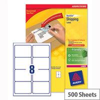 Avery L7165-500 Laser Address Labels 99.1x67.7mm White (4000 Labels)
