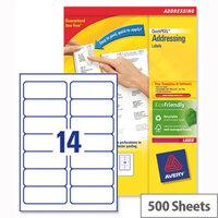 Avery L7163-500 Laser Address Labels 99.1x38.1mm White (7000 Labels)