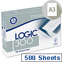Logic 300 A3 80gsm White Printer Paper FSC Ream of 500 Sheets