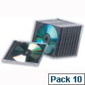 CD Case Standard Jewel 1 Disk Clear Pack 10