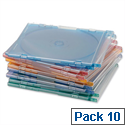 CD Jewel Case for 1 Disk Assorted Pack 10