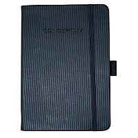 Sigel Conceptum Notebook Leather Look Soft Cover 80 gsm 270x187mm Approx A4 Black Ref CO212
