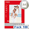 Canon A4 Glossy Photo Paper 210gsm Pack 100 0775B001