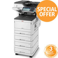 OKI MC853DNV A3, A4, A5, A6 Multifunction Printer Colour LED AiO - USB, LAN - Speed: 23ppm - 600 x 1200 dpi - (Fax/Copier/Printer/Scanner)