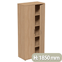 Tall Beech 2 Door Office Cupboard 1850mm Height Kito