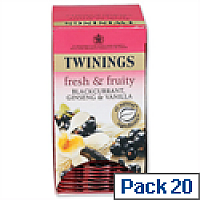 Twinings Infusion Tea Bags Blackcurrant Burst Pack 20
