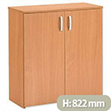 Trexus Basics Budget Cupboard with 2 Doors Low Height W740xD340xH822mm Beech