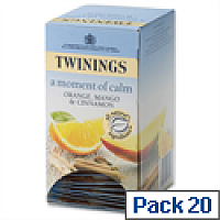 Twinings Infusion Tea Bags Orange Mango Cinnamon Pack 20