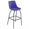 Trexus Polypropylene Stool with Black Frame Seat WxDxH: 520x580x610mm Blue