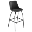 Trexus Polypropylene Stool with Black Frame Seat WxDxH: 520x580x610mm Black