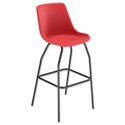 Trexus Polypropylene Stool with Black Frame Seat WxDxH: 520x580x610mm Red