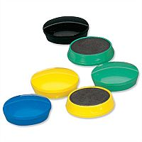 Whiteboard Magnets Round 30mm Assorted Colours 10 Pack 5 Star
