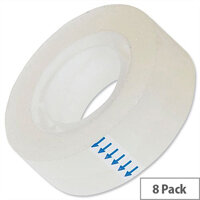 Clear Roll Sticky Tapes 19mm x 33m Pack 8 5 Star
