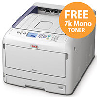 OKI C833dn Colour Laser Duplex Networked Printer A3