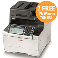 OKI MC573dn Colour Multifunction Laser Printer A4 Duplex Print Copy Scan and Fax