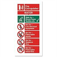 Stewart Superior Sign Water Fire-Extinguisher W100xH200mm Self-Adhesive Vinyl