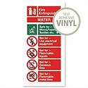 Water Fire Extinguisher Self Adhesive Safety Sign Stewart Superior