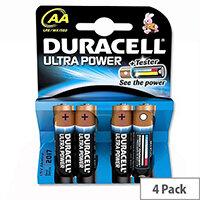 Duracell Ultra Power AA Alkaline Batteries (4 Pack) 75051955