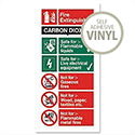 CO2 Fire Extinguisher Self Adhesive Safety Sign Stewart Superior
