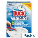 Toilet Duck Gel Discs Marine Fragrance Pack 6
