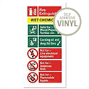 Wet Chemical Fire Extinguisher Self Adhesive Safety Sign Stewart Superior