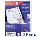 Avery 6 Part Punched Index Maker Divider Set 01638061