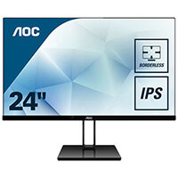 "AOC 24V2Q - LED Computer Monitor - 23.8"" - 1920 x 1080 Full HD (1080p) - IPS - 250 cd/m"