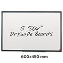 Whiteboard Lightweight 600 x 450mm 5 Star