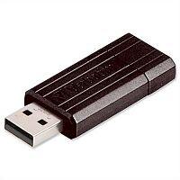 Verbatim PinStripe Drive 32GB Retractable USB Memory Stick 2.0 Black