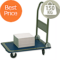 Flatbed Trolley Capacity 150kg Blue and Grey RelX PH150