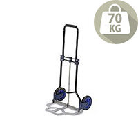 RelX Hand Trolley Folding Capacity 70kg Foot Size W480xL470mm Black and Blue