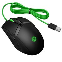 HP Pavilion Gaming 300 Computer Mouse for Gaming, Right and Left-handed, 6 Buttons, Wired, USB, Black