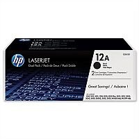HP 12A Black Laser Toner Cartridge Q2612AD Pack 2