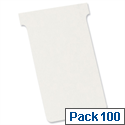 Nobo T-Cards Size 3 80x120mm White Pack 100